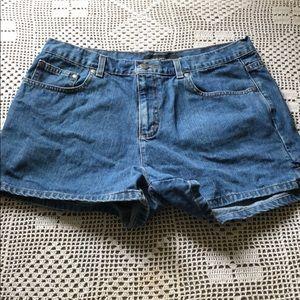 Calvin Klein denim shorts size 14.